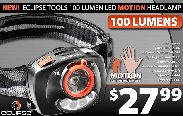 Motion Activated Head Lamp