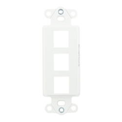 3 Port - Decor Style Multi-Media Wall Plate Insert - White