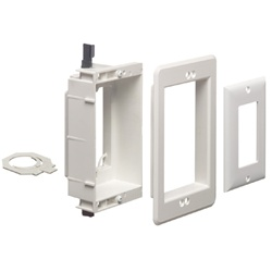 Arlington 1-Gang Recessed Low Voltage Mounting Bracket - White