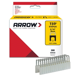 Arrow T-59 5/16in Black Insulated Staples - 300 Staples