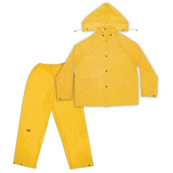 3pc PVC Rain Suit, Yellow - XL