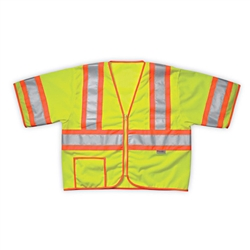 Sleeved Safety Vest, ANSI Class 3, Lime-Yellow - 2XL