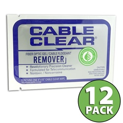 BioChem Cable Clear Gel/Flooding Cleaning Wipe - 12 Pack