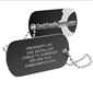Personalized Aluminum Tool Tag - Black