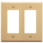 FACEPLATE, DECOREX, 2-GANG, IVORY