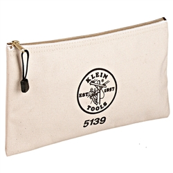 Klein Tools Canvas Zipper Bag - White