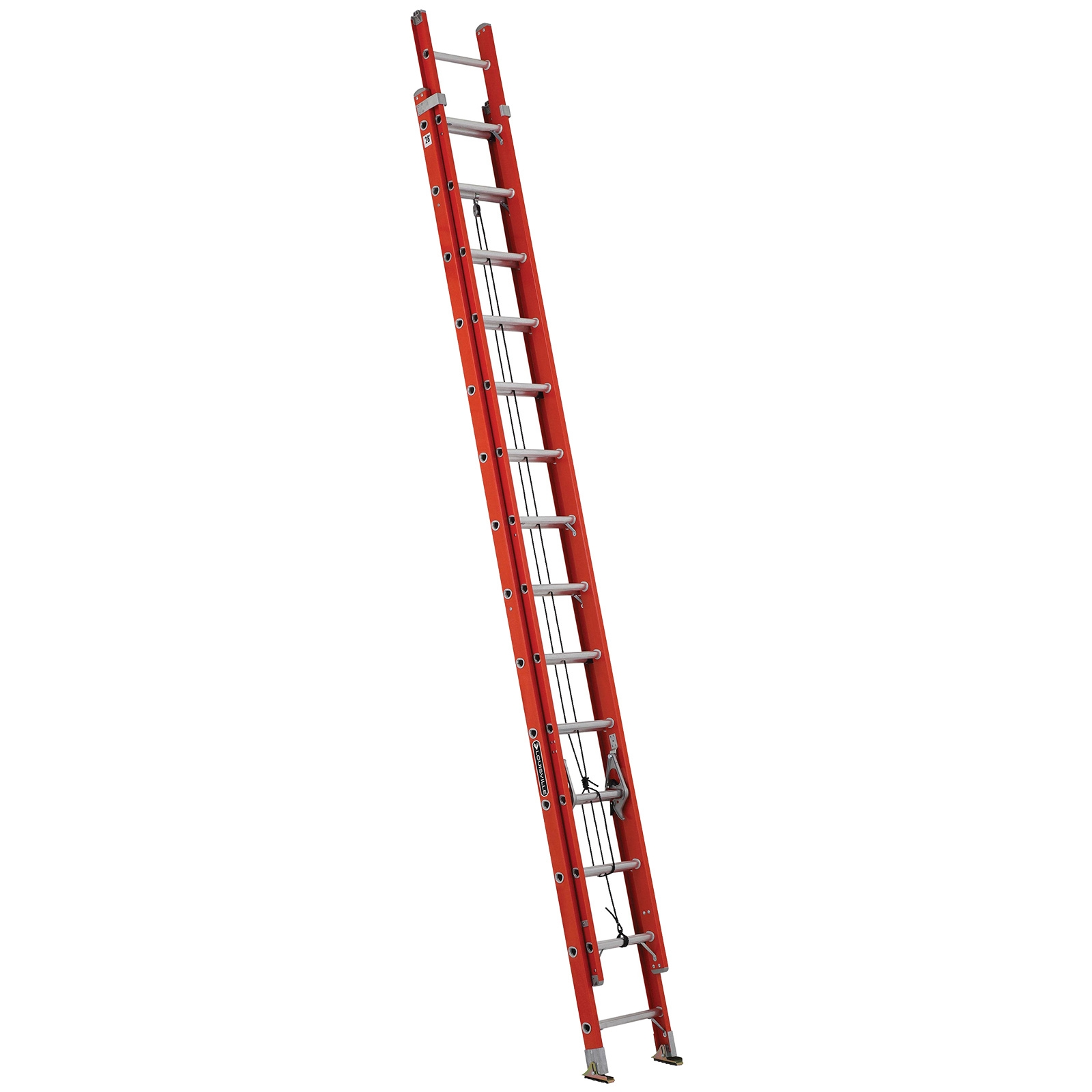 28 Ft Fiberglass Ladder W V Pole Grip Hooks