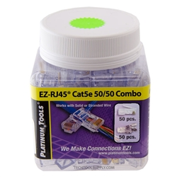 100pc Refill for Platinum Tools EZ-RJ45 CAT5e Kit