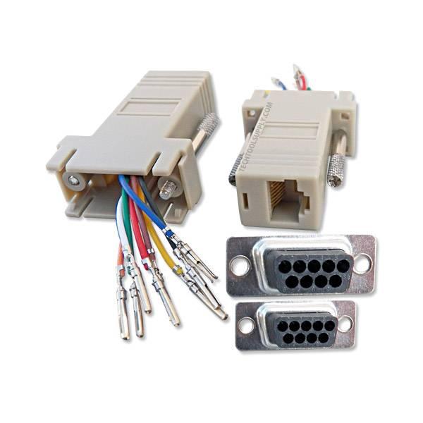 rj45 female connector wiring diagram db9    female    to    rj45       female    modular adapter  db9    female    to    rj45       female    modular adapter