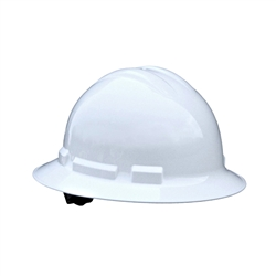 Radians Full Brim Hard Hat 6-Point Ratchet - White