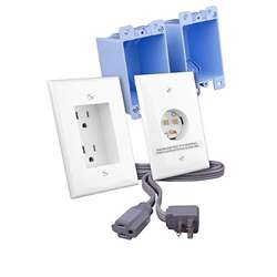 RapidLink In-Wall Power Extension for Flat Panels - White