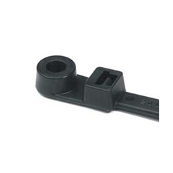 HellermannTyton 50lb 8in Black Mountable Cable Tie - 1000pk