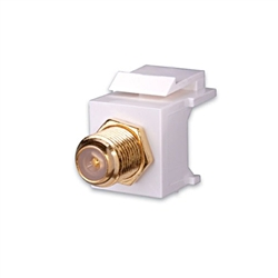 Vanco Quickport F-Type, Gold Plated, White