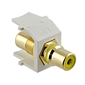 Vanco RCA to RCA White Quickport Insert - Yellow