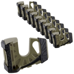 10-Pack Wedge-It Ultimate Door Stop - OD Green