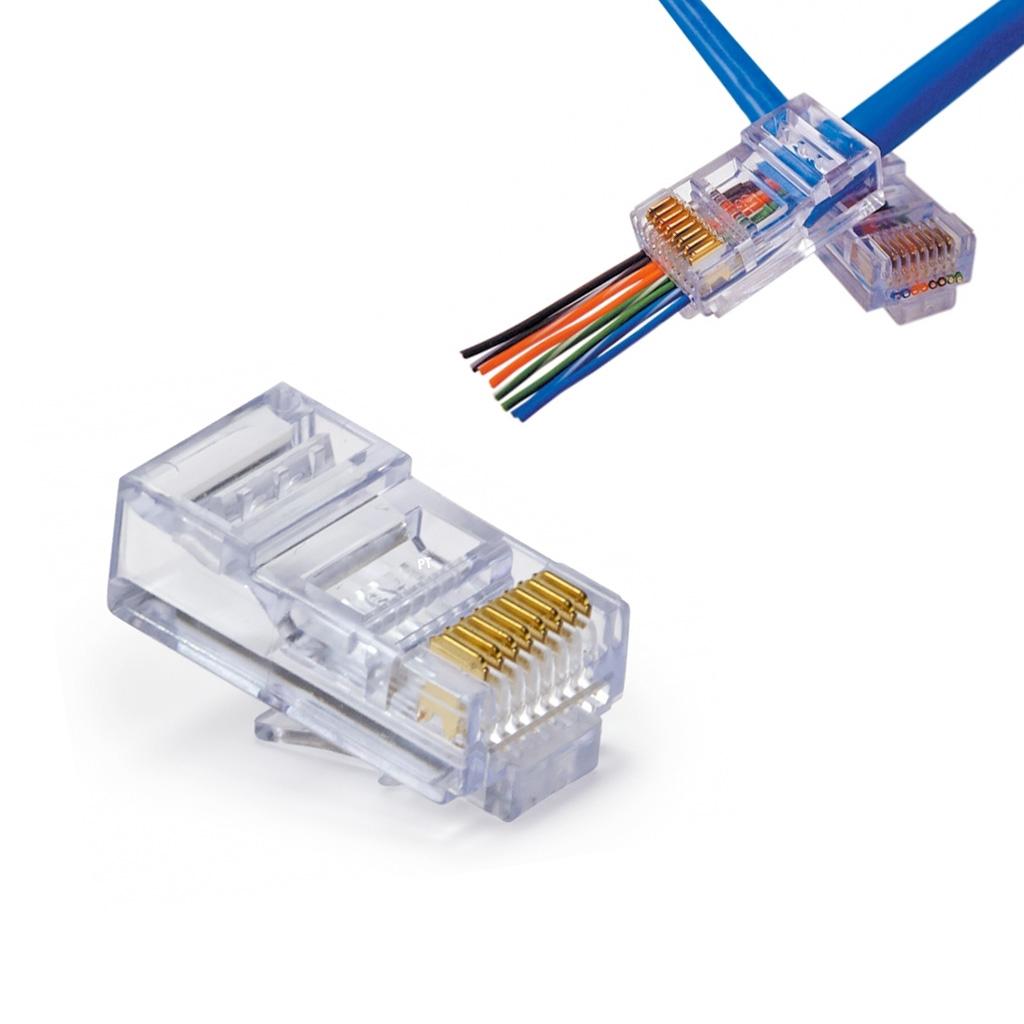 EZ-RJ45 CAT5/5e Connectors - Box of 100