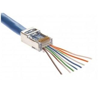 cat5e wiring diagram pass through ez-rj45 cat5e/cat6 fully shielded connectors - 50 pack