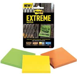 3M Post-It Extreme Notes - 3 Pads