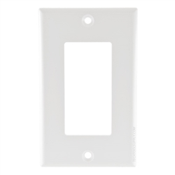 Vanco Decor Style Plate Single Gang - White