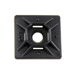 ACT 1in x 1in Rubber Adhesive Mounting Pad - Black - 100 pieces