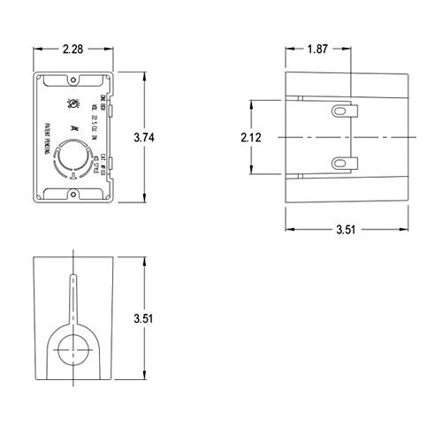 "ARLINGTON FA101 1-Gang Non-Metallic Adjustable Outlet Box 1//4/""-1-1//2/"" Qty-5"
