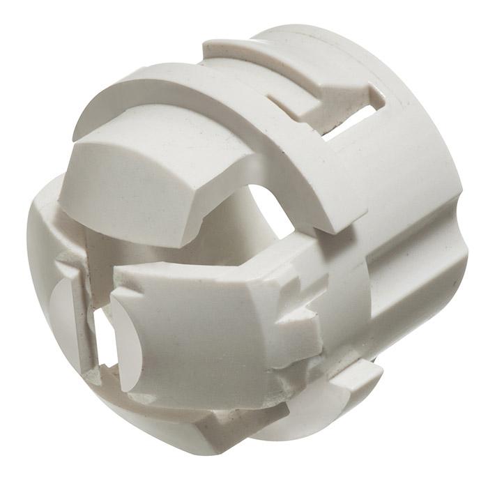 Arlington White Button Non-Metallic Cable Connector