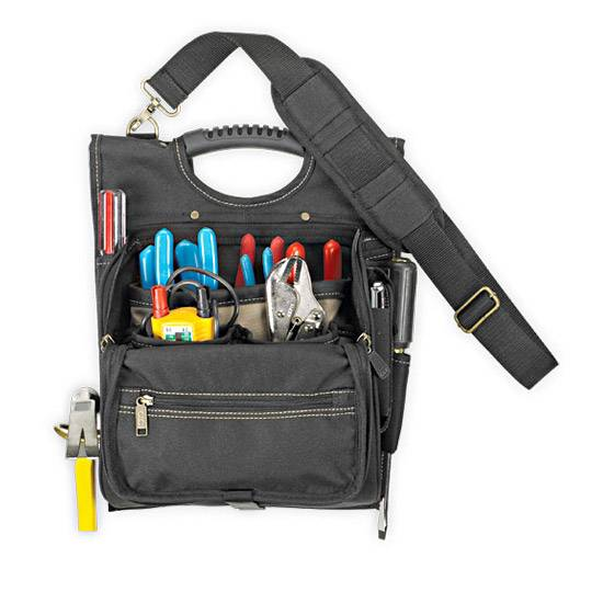 Ag West Supply >> 21 Pocket Zippered Pro Electrician's Tool Pouch