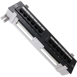 Wall Mount Mini 12-Port Patch Panel CAT5E