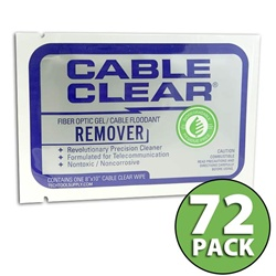 BioChem Cable Clear Gel/Flooding Cleaning Wipe - 72 Pack