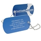 Personalized Aluminum Tool Tag - Blue