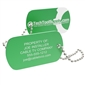 Personalized Aluminum Tool Tag - Green