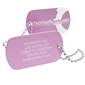 Personalized Aluminum Tool Tag - Pink