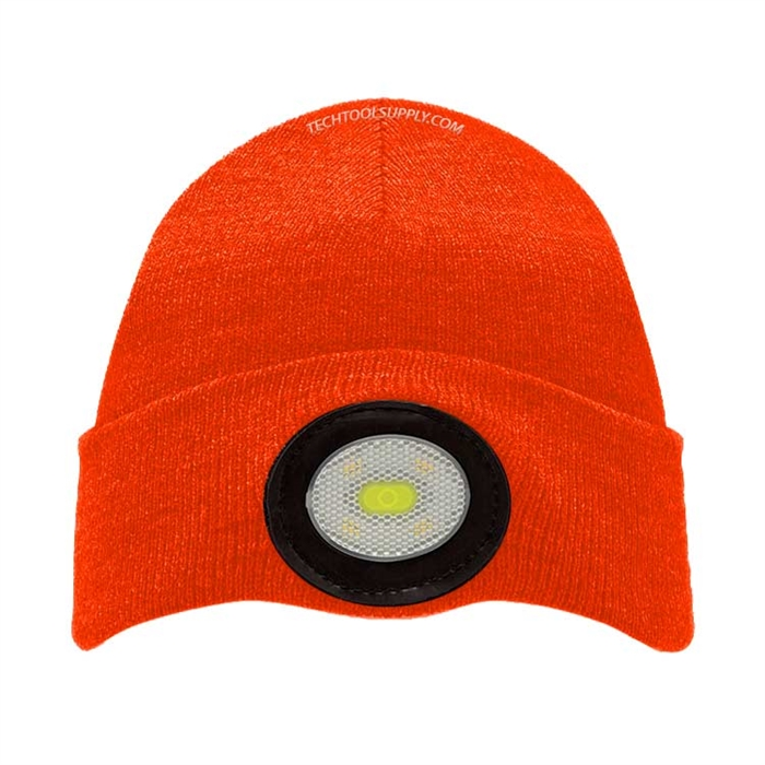 cbeea1caa3c Unilite USB Rechargeable 150 Lumen Beanie Headlight - Orange