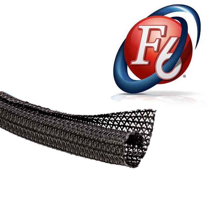 1in F6 Flexible Wire Wrap - Black 50\'