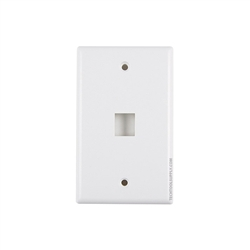 1 Port Wall Plate White