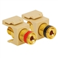 One Pair Quickport Speaker Binding Posts - Ivory