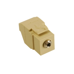 ICC 3.5mm Stereo Audio Quickport Insert - Ivory