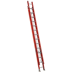 28 ft Fiberglass Ladder w/ v-pole grip hooks