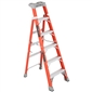 6ft 300lb Fiberglass Cross-Step/Shelf Ladder - Type IA