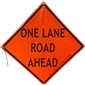 MDI One Lane Road Ahead Traffic Sign - 36in