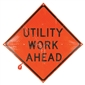 MDI Utility Work Ahead Traffic Sign - 36in