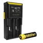 Nitecore D2 Charger w/ 1x NL183 2300mAh 18650 Battery
