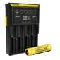 Nitecore D4 Charger w/ 1x NL189 3400mAh 18650 Battery - High Capacity
