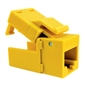 Platinum Tools CAT6 EZ-Snapjack, Yellow - 1pc