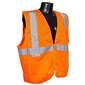 Radians Class 2 Vest with Zipper, Orange - Large