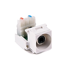 RCA to 110 Quickport Insert - White