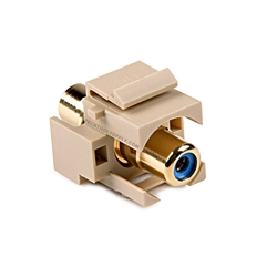 RCA to RCA Ivory Quickport Insert - Blue