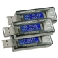 USB 3-in-1 Voltage/Current/Capacity Meter 3-Pack