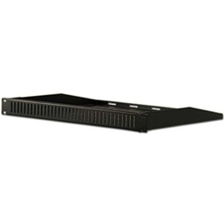 1U Hidden Rack Shelf w/Vented Cover
