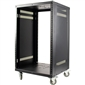 16U Metal Rolling Rack w/Wheels